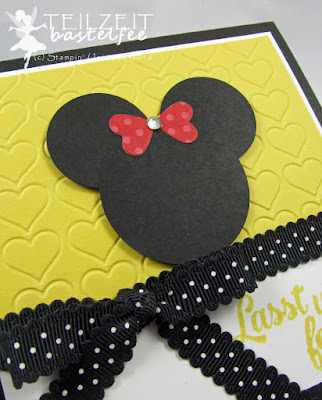 Stampin' Up! - In{k}spire_me #161, Sketch Challenge, Minnie/Micky Mouse, Framelits Circle Collection, Konfetti Grüße, Confetti Celebration
