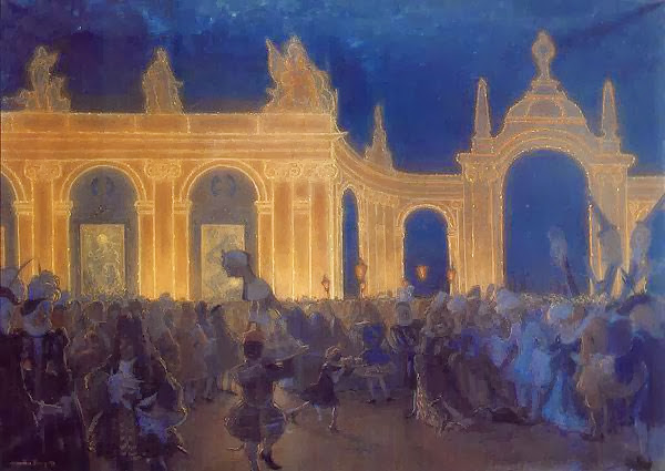 Alexandre Benois - Masquerade under Louis XIV