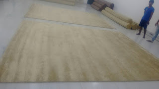 Bamboo silk rug for project