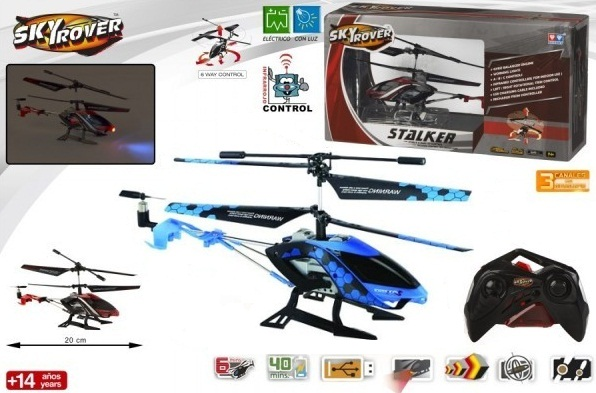 Đồ chơi Trực thăng Stalker điều khiển từ xa Sky Rover YW856611-6 màu xanh