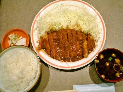 チキン味噌かつ定食¥620(【岐阜県安八郡】やわらかとんかつ喜楽屋)