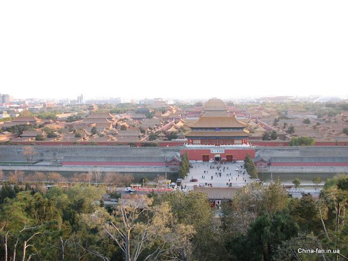 Вид на Запретный город в Пекине