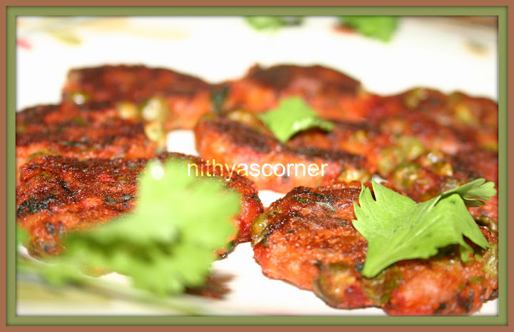 Potatoes and Peas Kabab