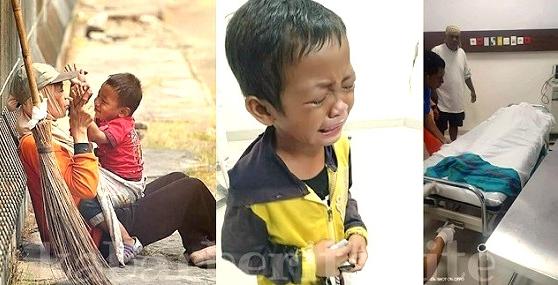 Seorang ibu yang bekerja sebagai petugas kebersihan di Pantai Losari Makassar meninggal du Anak Penyapu Jalanan Menangis Saat Ketahui Ibunya M3n!ngg4l Tertabrak Mobil