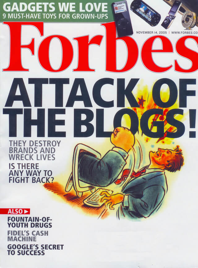 Forbes attack of the blogs