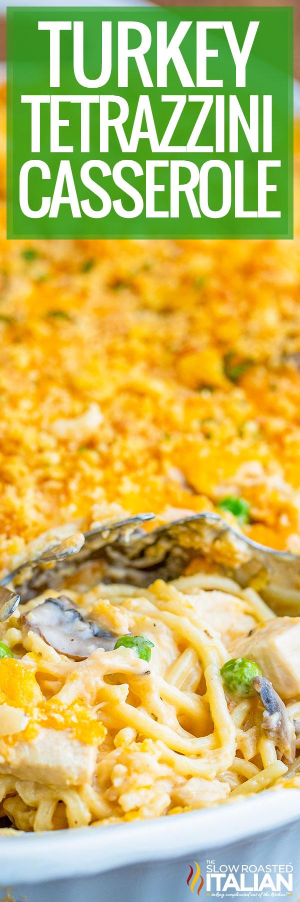 Turkey Tetrazzini Casserole closeup