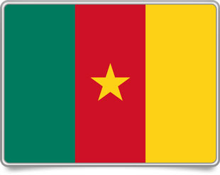 Cameroonian framed flag icons with box shadow