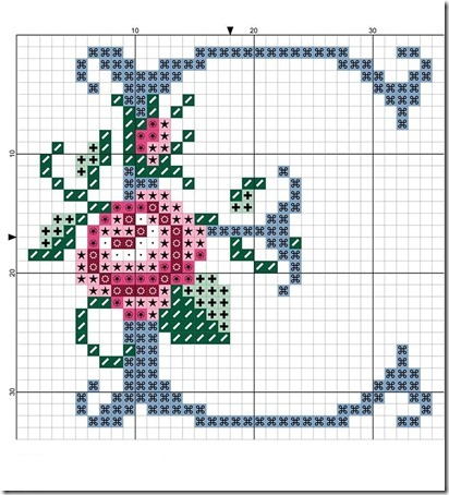 abc punto cruz letras con rosas  (4)