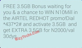 How To Get Airtel 7GB for N2000   Airtel REDHOT Promo