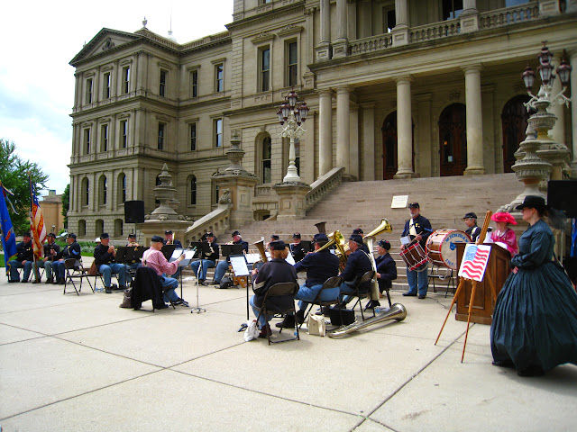 5th MI concert on the steps of the capitol