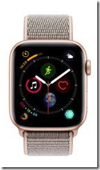 Apple Watch Series 4 with gold aluminium case