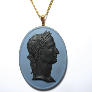 Wedgwood Jasper Cameo Necklace
