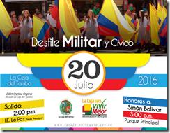 la ceja desfile 20 de julio
