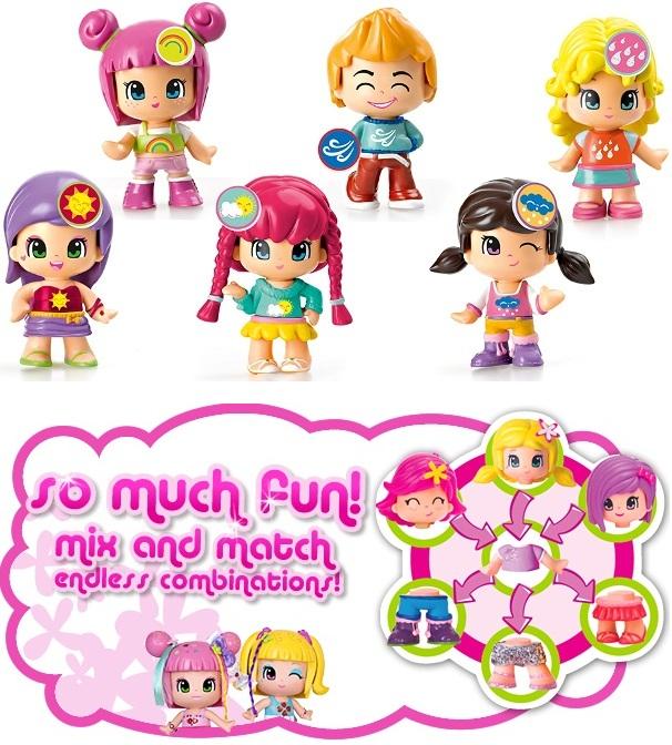 Bộ sản phẩm Pinypon cơ bản bao gồm 6 nhân vật cho bé thỏa sức lựa chọn