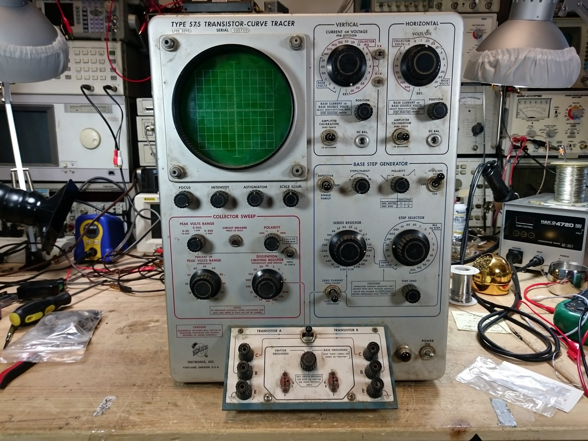 Curve Tracer Circuit Oscilloscope Tektronix 575 Mod 122c Restoration Project Part 1