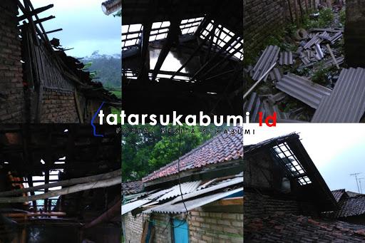 Hujan Dibarengi Puting Beliung Melanda Gegerbitung 11 Rumah Terdampak