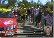La maglia gialla Chris Froome