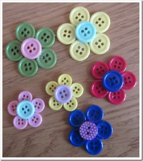 button flower pin broocches b