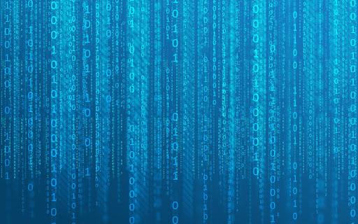 Blue Matrix Binary
