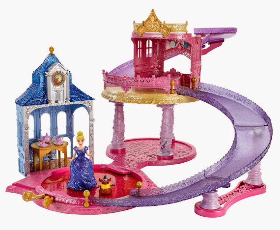 2014 Hot Toys Disney Princess Glitter Glider Castle Playset