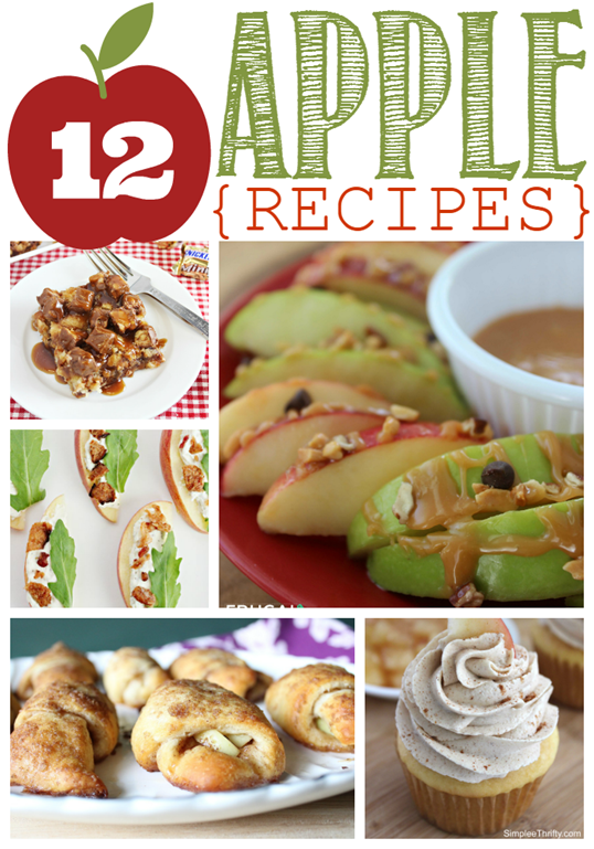 12 Apple Recipes at GingerSnapCrafts.com #apples #recipes #linkparty #features