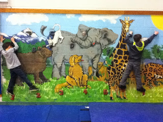 The animal mural of the ABC Wall is amazing!