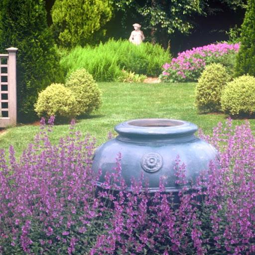 Vista through the formal garden.