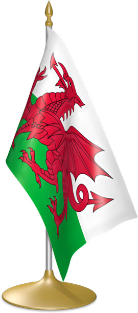 Welsh table flags - desk flags