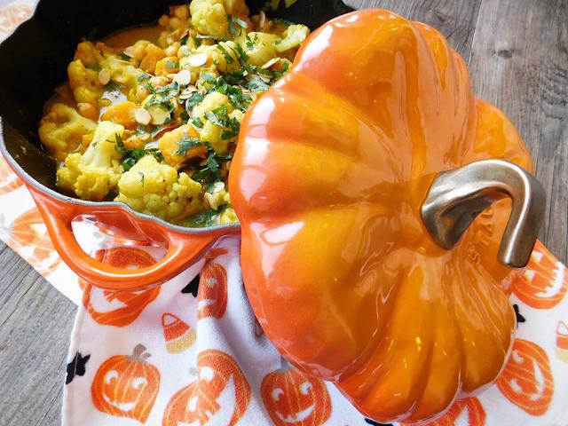 Pumpkin, Cauliflower and Chickpea Korma