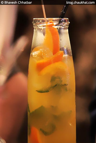 Orange Mocktail at Shizusan (The Asian Bistro) in Phoenix Market City at Viman Nagar area of Pune
