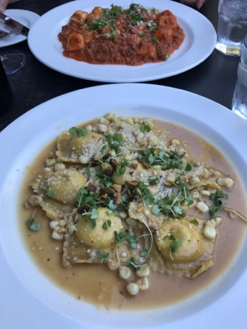 Aventine Glen Ellen - Gnocchi di Patate (top) and Chicken and Goat Cheese Ravioli (bottom)