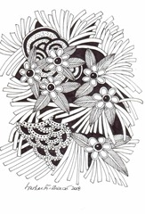 616 Zentangle Bunch of Flowers