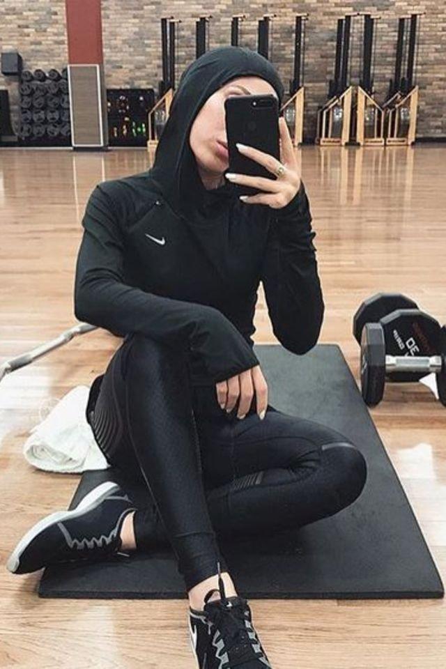 Hijab Fashion Outfit Ideas to the Gym