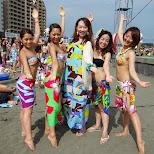 the lovely hula hula girls in Fujisawa, Kanagawa, Japan