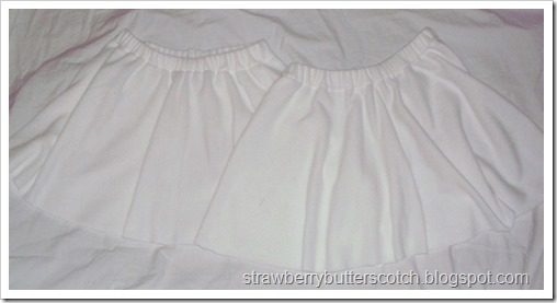 White Fleece Half Circle Skirts