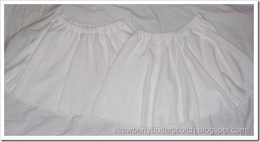 White Fleece Half Circle Skirts