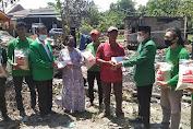 Jelang Muscab, PPP Takalar Gelar Baksos Bantu Dhuafa dan Korban Kebakaran Di Galesong