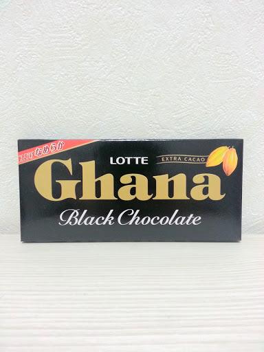 ロッテガーナブラックチョコレートの写真
