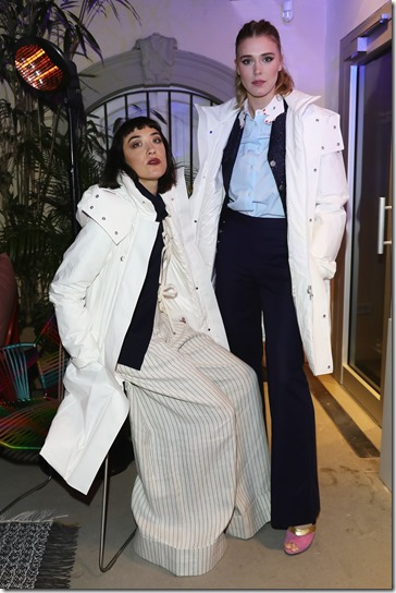 FLORENCE, ITALY - JANUARY 11:  Mia Moretti and Gaia Weiss attend The Icon Project Peuterey by LUISAVIAROMA on January 11, 2017 in Florence, Italy.  (Photo by Vittorio Zunino Celotto/Getty Images for LUISAVIAROMA)