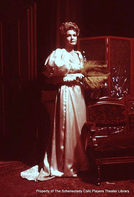 Joanne Westervelt in LADY WINDERMERE'S FAN - January/February 1976.  Property of The Schenectady Civic Players Theater Archive.