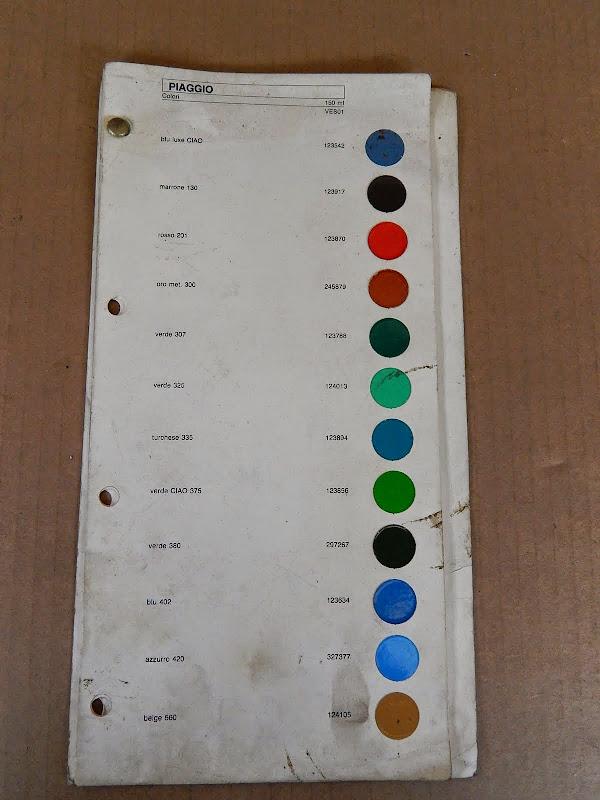 tabella colori originale piaggio ciao etc | ebay