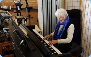Audrey Henden playing the Yamaha Clavinova CVP-609.