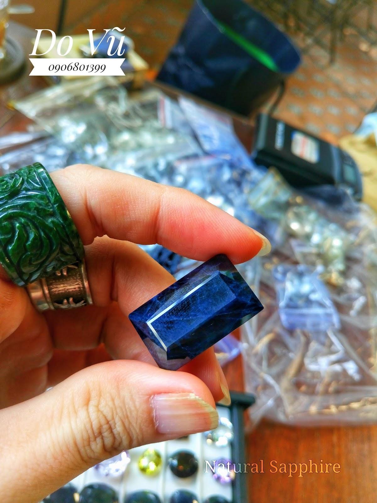 Đá quý Sapphire thiên nhiên, Natural Sapphire xanh hero chất ngọc ( 10/4/20, 02 )