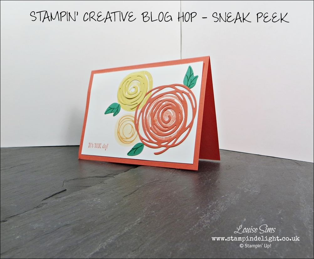 Join the Stampin Creative Blog Hop for some sneak peek of new products from the 2016 Annual