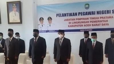 Hari ini, Bupati Abdya Lantik 12 Penjabat Eselon II