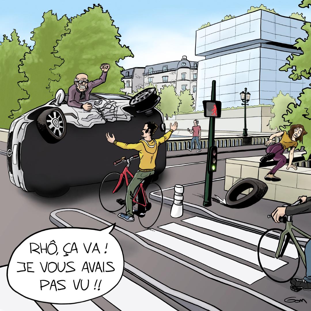 accident voiture vélo