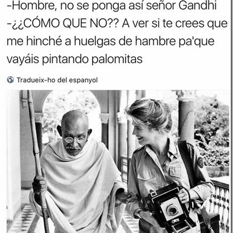 Humor Gandhi y el día de la Paz