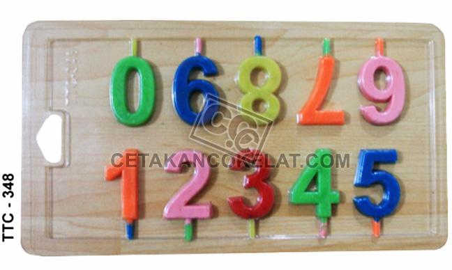 cetakan coklat cokelat nomor angka numerik TTC348