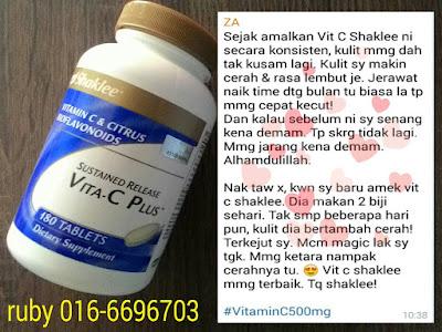 kulit cantik dengan VITAMIN C SHAKLEE