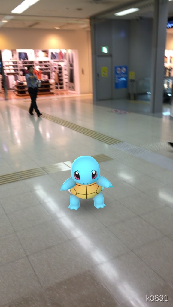 2016年9月下旬に羽田空港内で遭遇したポケモン